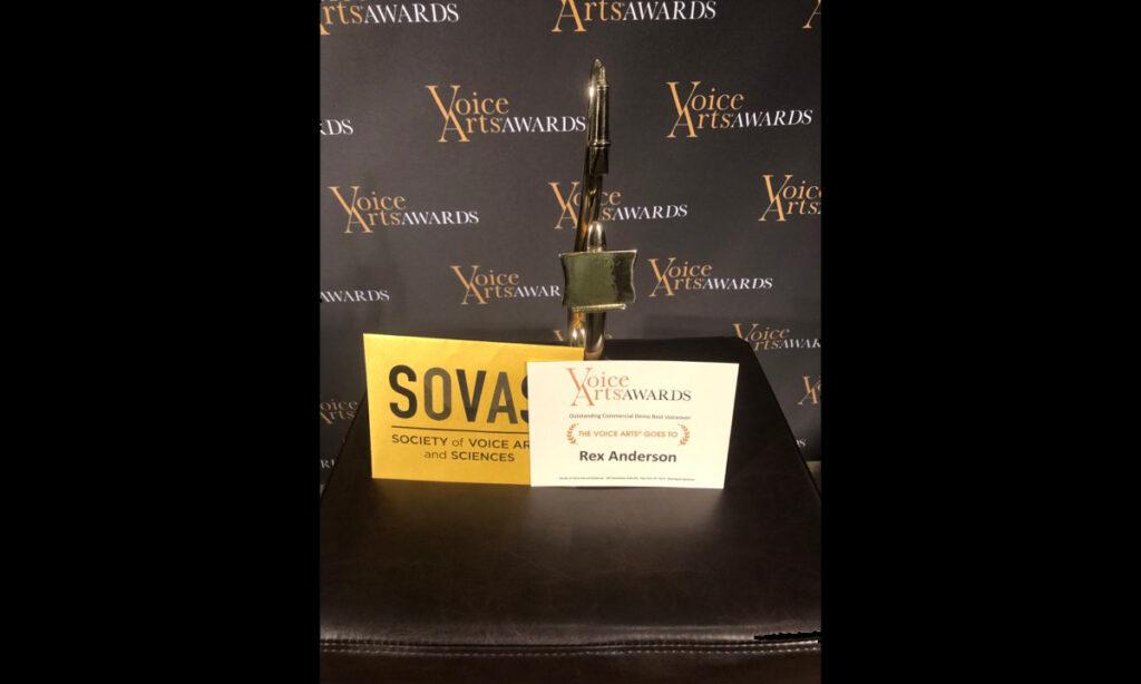 Rex Anderson - SOVAS Voice Arts Award Winner